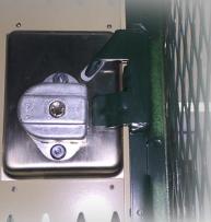 Inside View Sentry III Built-in Lock (When Open)